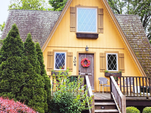 The Cutest A-Frame Airbnb Ever.