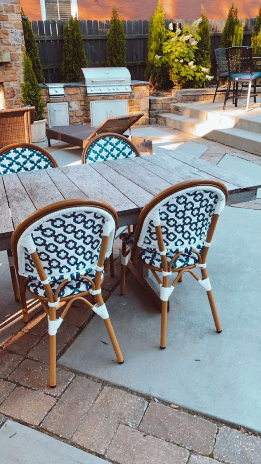 Amazon Blue & White Resort Style Outdoor Furniture M.Reed Studio M x Reed Studio Branding and Website Design St. Charles MO Meghan Reed