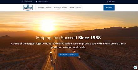 Bestway freight website design st. louis