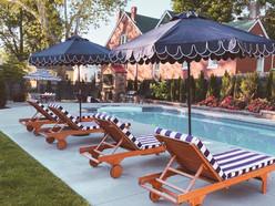 Amazon Blue & White Resort Style Outdoor Furniture