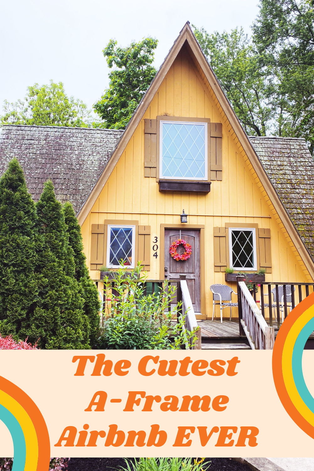 Cutest A-Frame Airbnb M.Reed Studio M x Reed Studio Branding and Website Design St. Charles MO Meghan Reed