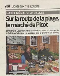 Article du journal Sud-Ouest sur La Cabane de Pico