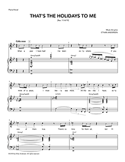 """""""That's the Holidays to Me"""" sheet music"""