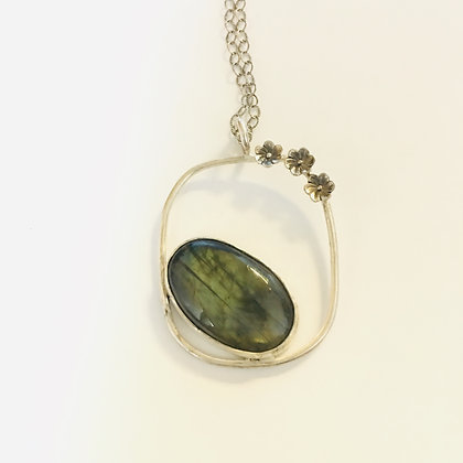 Labradorite Squoval Necklace
