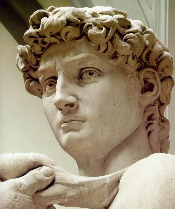 Rosto de David de Michelangelo