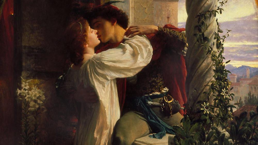 """Ilustração dos personagens """"Romeu e Julieta"""""""
