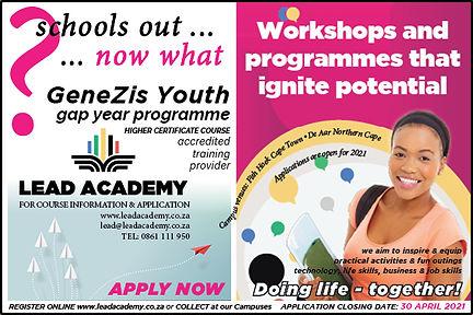 GeneZis Youth Programme Newspaper Ad.jpg