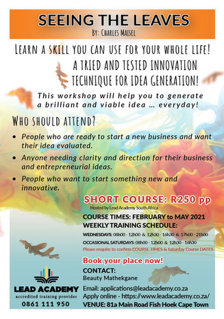 SEEING THE LEAVES - INNOVATION WORKSHOPS