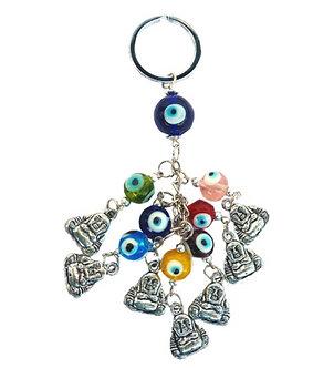 Porte-clés Bouddha contre le mauvais oeil