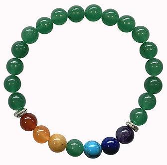 Bracelet 7 Chakras - Jade Verte