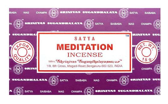 Encens bâtons Satya Méditation - 15g
