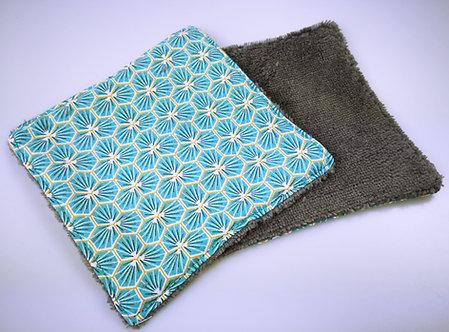 Lingette démaquillante lavable YAPOU : bleue