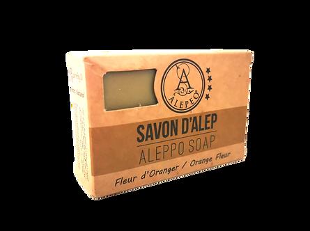 Alepeo Savon d'Alep 8% - Fleur d'Oranger, 100g