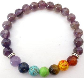Bracelet 7 Chakras - Améthyste