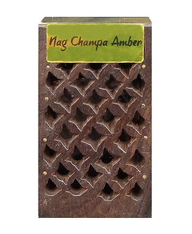 Mini boîte en bois parfumée - Nag Champa Ambre