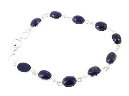 Bracelet argent - Lapis Lazuli