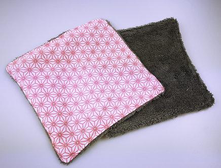 Lingette démaquillante lavable YAPOU : rose