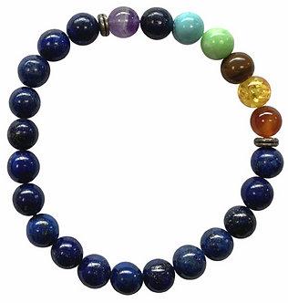 Bracelet 7 Chakras - Lapis Lazuli
