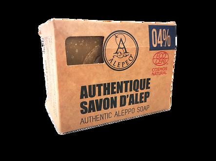 ALEPEO Savon d'Alep 4% Ecocert, 200g