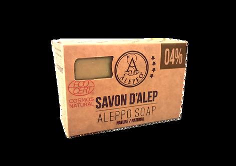 ALEPEO Savon d'Alep 4% Ecocert, 100g