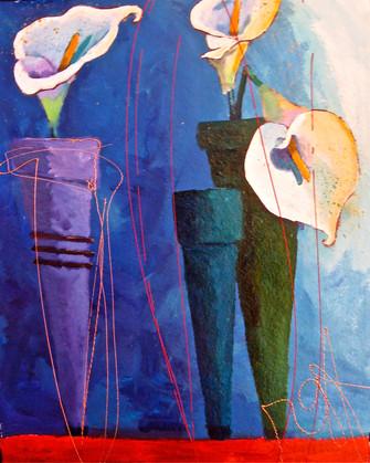 'Callas on Blue'