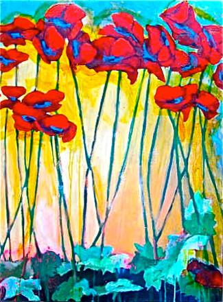 'Poppies at Sunrise'