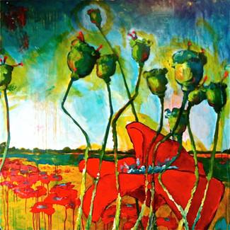 'Loire Poppy Pods'