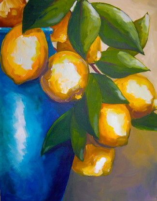 'Lemons in a Blue Jar'