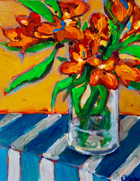 Lilies in a Clear Vase - 1.jpg