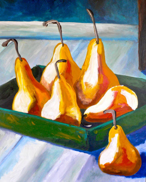 'Pears in a Green Box'