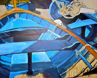 Blue Boats of the Chinqua Terre'
