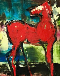 abstract red horse 16x20 - 1.jpg