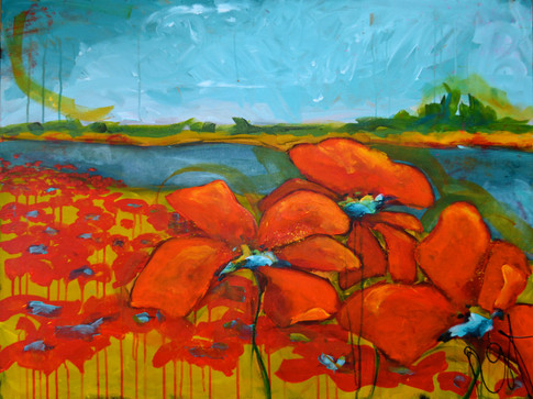 'Loire River Poppies'