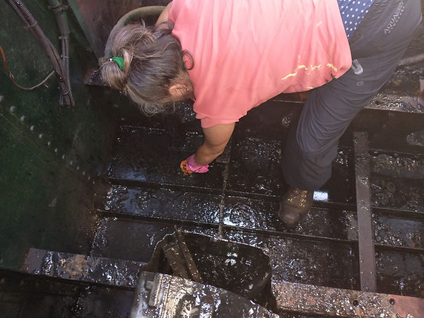 Bilge cleaning. Not for the faint hearte