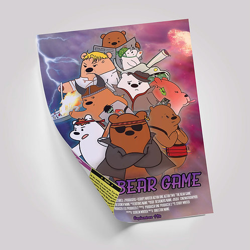 ADDITIONAL Bear Game Movie Poster/Instructions