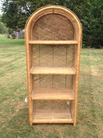 Wicker Shelf/Bookcase