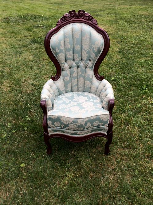 Blue/Green Victorian Chair