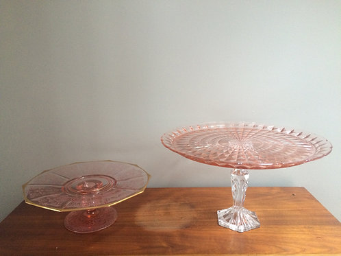 Pink Cake Stands Each