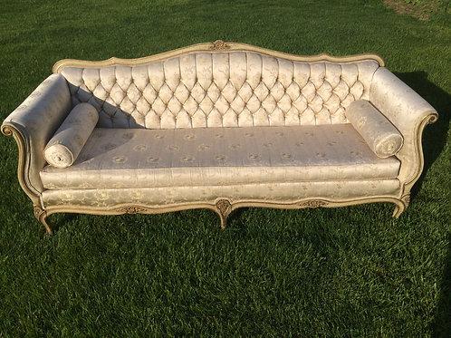 Victorian Floral Brocade Sofa
