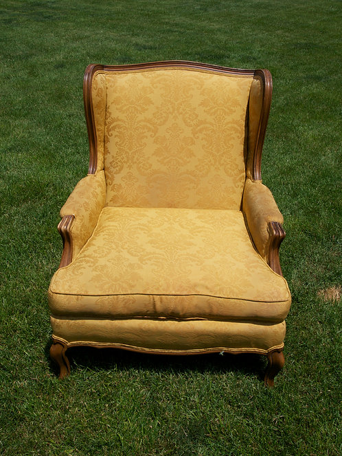 Gold Wingback Chair