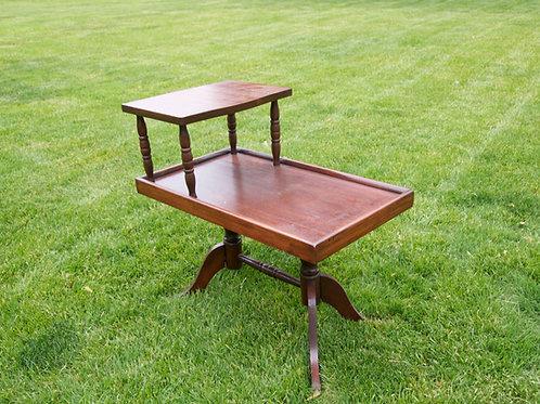 Wooden Two Shelf Side Table