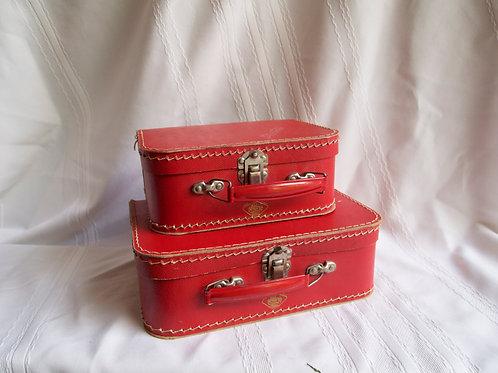 Red Mini Suitcases