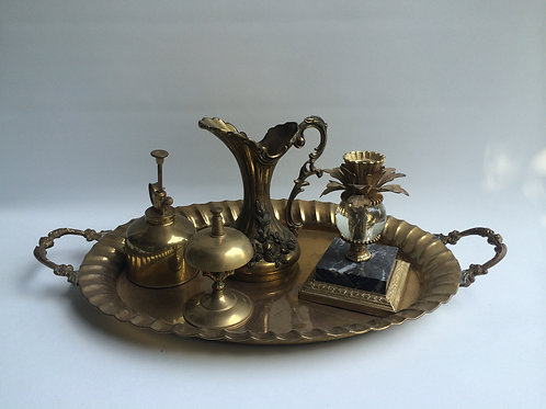 Brass Tray and Accessories