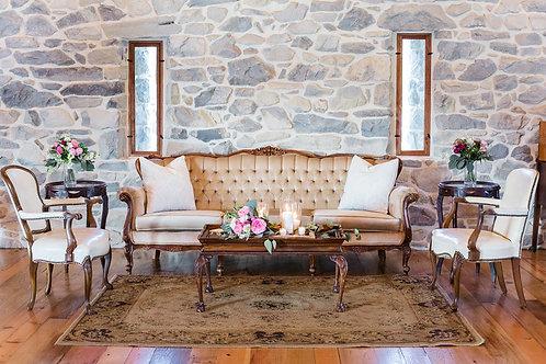 Tan Tufted Sofa