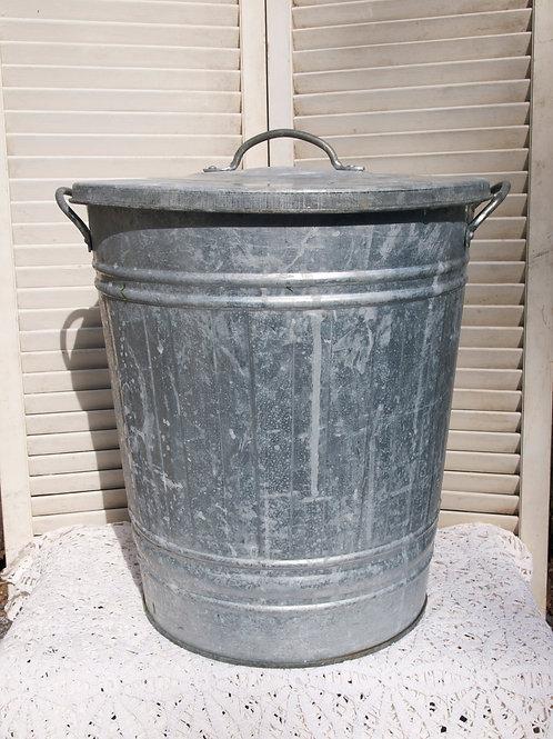 Galvanized Mini-Trash Can