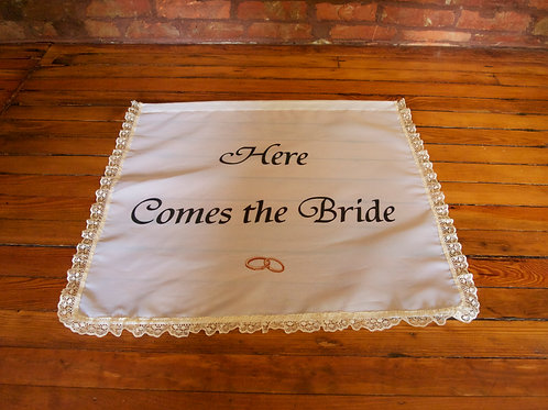 Here Comes The Bride Banner