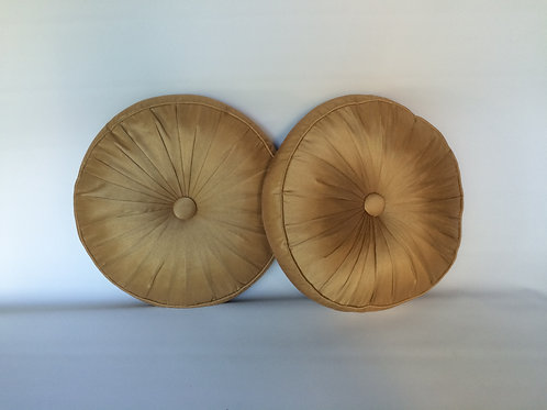 Gold Round Pillows