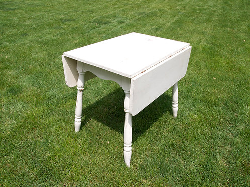 White Two Leaf Table