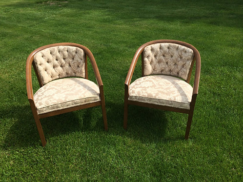 Tan and White Club Chairs