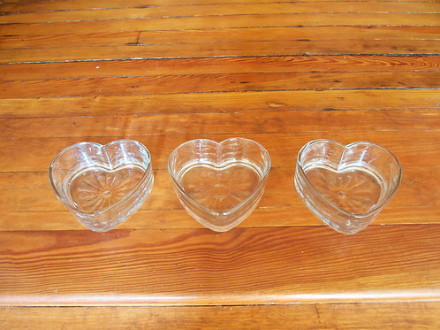 Heart Glass Container